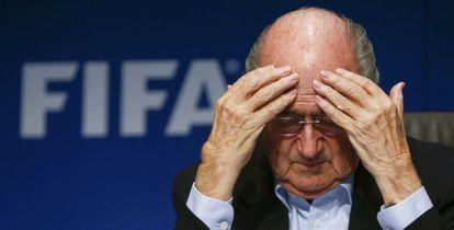 Blatter, presidente de la FIFA, en 2014.