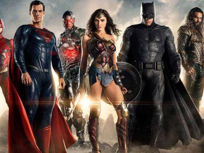 Wonder Woman y sus compañeros en la Liga de la Justicia.