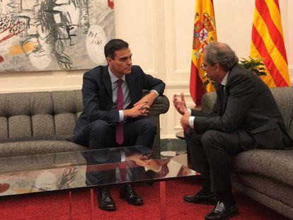 Reunión entre Pedro Sánchez y Quim Torra en Barcelona. Vídeo: Llegada a Pedralbes.