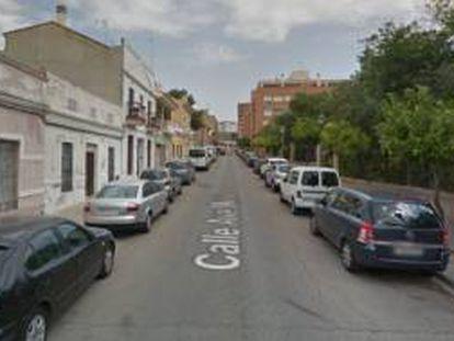 Calle Ave María de Benimàmet, Valencia, donde se ha producido la agresión.