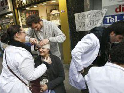 Los MIR han sido muy activos en sus protestas.