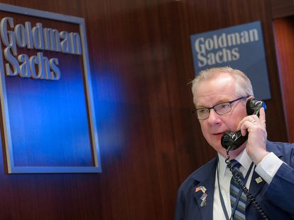 Un 'trader' de Goldman Sachs.