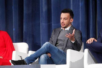 Alejandro Amenábar durante la presentación del anuncio de la Lotería de Navidad el pasado mes de noviembre.