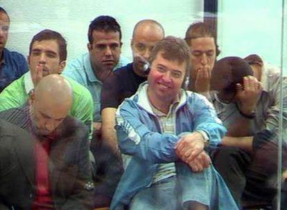 Varios de los acusados del juicio del 11-M, durante la sesión de ayer.