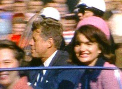 John Kennedy, con su esposa Jacqueline, antes del atentado.