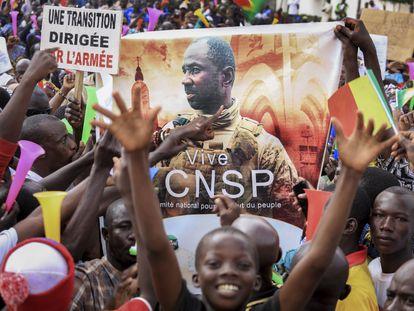 Manifestación del pasado 8 de septiembre en Bamako para celebrar el golpe de Estado.