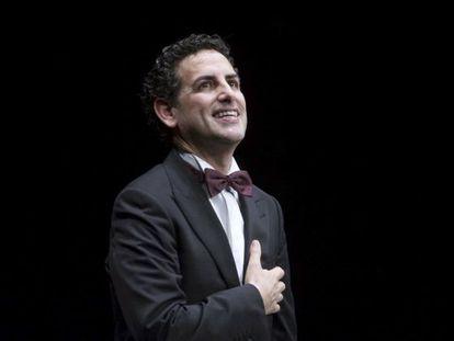 Juan Diego Flórez, tras su actuación en el Teatro Real, en Madrid.