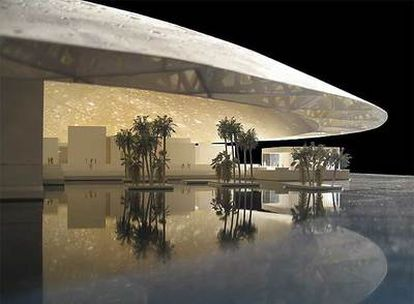 Maqueta del museo del Louvre en Abu Dabi, del arquitecto Jean Nouvel.