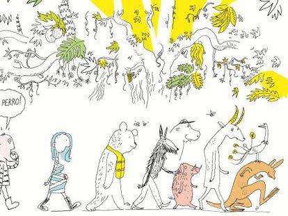 lustración de Øyvind Torseter para 'La historia de por qué los perros…'
