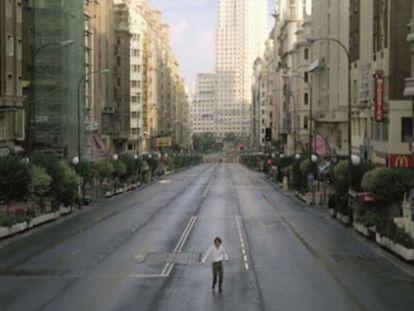 Una imagen de 'Abre los ojos' (1997), de Alejandro Amenábar.
