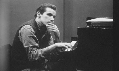 El pianista Glenn Gould.