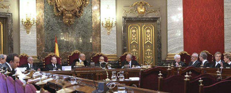 Aspecto de la sala 61 del Supremo a la espera de los abogados de ANV, que, finalmente, no comparecieron