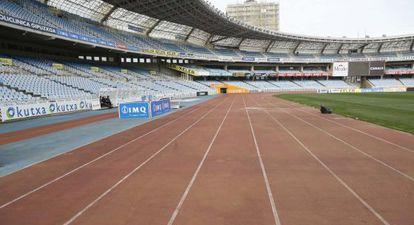 Vista del estadio de Anoeta.