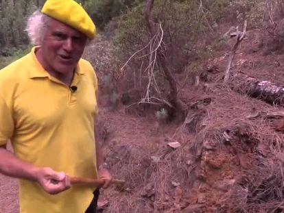 El párroco Francisco Báez, en una imagen de uno de sus programas en Gran Canaria  Televisión.