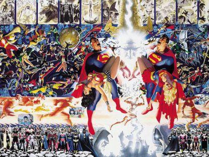 Portada de Alex Ross para 'Crisis en Tierras infinitas'.