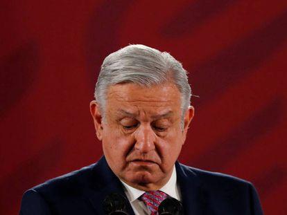 López Obrador durante una conferencia el pasado jueves.