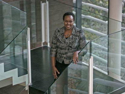 Dorcas Muthoni en la Universidad Pompeu Fabra (UPF).