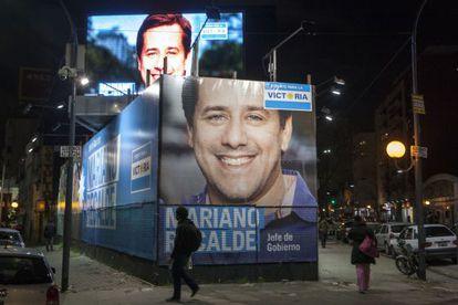 Anuncios del candidato kirchnerista a alcalde de Buenos Aires, Mariano Recalde