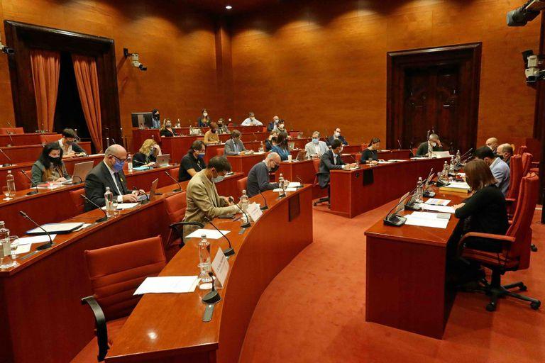 Reunión de la comisión de control de la CCMA, este viernes.