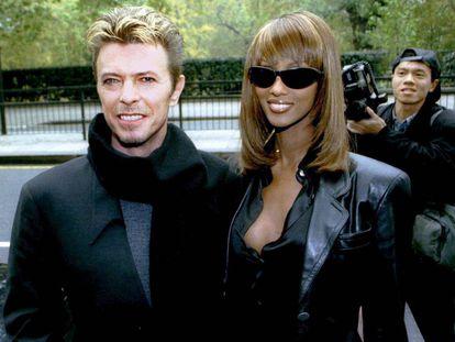 Iman y Bowie en una imagen de 1995. La modelo ha recordado en varias ocasiones a su pareja durante los últimos 12 meses.