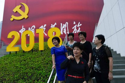 Un grupo de visitantes en el Museo de la Reforma de China, el pasado 8 de noviembre en Shenzhen.