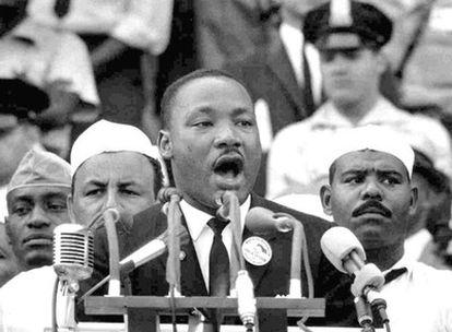 El reverendo Martin Luther King, en un momento de su discurso en Washington (EE UU) el 28 de junio de 1963.