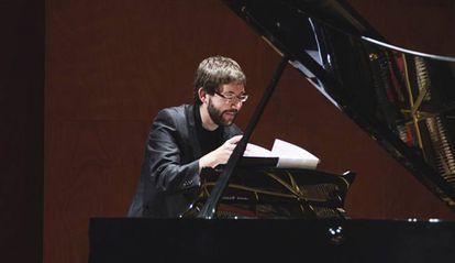 Carles Marigó durante uno de sus conciertos.