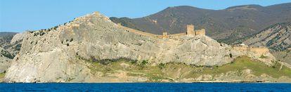 Vista de la fortaleza genovesa de Sudak, en Crimea.
