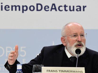 El vicepresidente de la Comisión Europea para el Pacto Verde, Frans Timmermans.