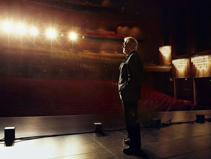 Plácido Domingo, en septiembre de 2015, en el Dorothy Chandler Pavilion de Los Ángeles.