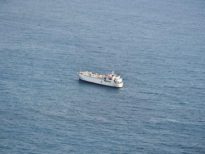El carguero 'Karim Allah', cerca de Cartagena, el pasado 25 de febrero.
