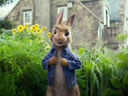 El conejo protagonista de 'Peter Rabbit'.