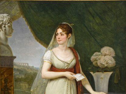 Retrato de Josefina de Beauharnais, primera esposa de Napoleón Bonaparte y emperatriz de Francia.