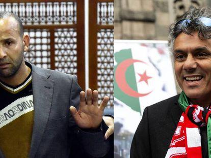A la izquierda, el candidato presentado como Rachid Nekkaz. A la derecha, el millonario franco argelino Rachid Nekkaz.