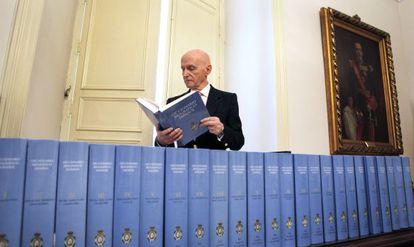 Gonzalo Anes, director de la Academia de la Historia de España.
