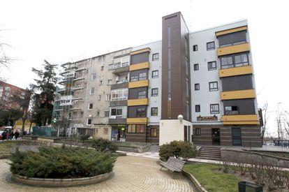 Rehabilitación de edificios para mejorar su eficiencia energética en Madrid.