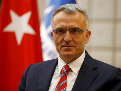 El gobernador saliente del banco central turco, Naci Agbal, en 2016.