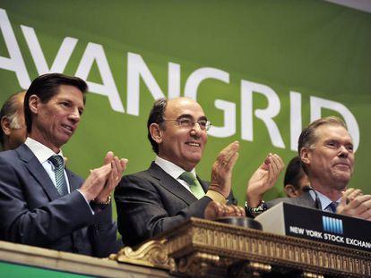 Estreno bursátil de Avangrid en Wall Street, en 2015, en una imagen facilitada por la compañía.
