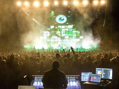 Imagen de un concierto de Gorillaz en Budapest (Hungría), la semana pasada.