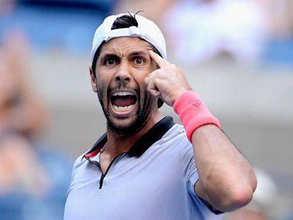Verdasco celebra su triunfo contra Murray en Nueva York.