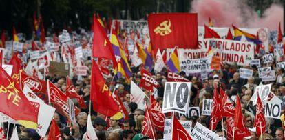 Manifestación del Primero de Mayo en Madrid.