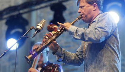 El saxofonista estadounidense Chris Potter, en San Sebastián.