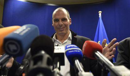 El ministro de Finanzas griego, Yanis Varoufakis, este viernes.