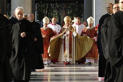 El papa Benedicto XVI ayer en el Vaticano.