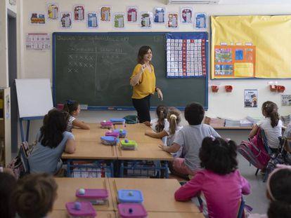Una clase en una escuela pública de Sevilla.