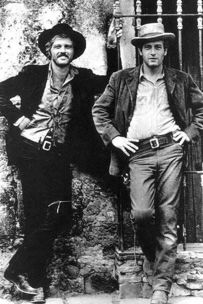 Redford y Newman, en <i>Dos hombres y un destino</i> (1969).