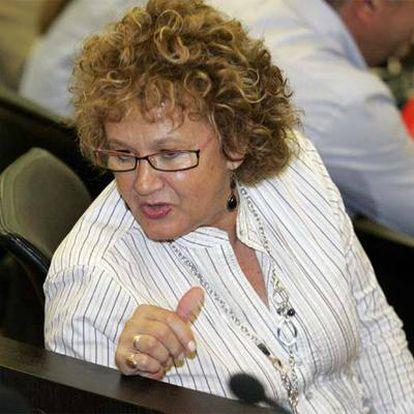 Maite Iraola en un pleno del Ayuntamiento de Benidorm.