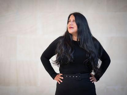 La escritora peruana Gabriela Wiener, el jueves en el Museo de América de Madrid.