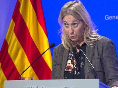 La portavoz del Gobierno catalán, Neus Munté.