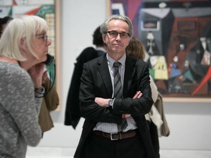 Emmanuele Guigon, director del Museo Picasso de Barcelona, en una de las salas.
